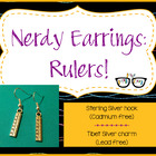 Adorably Math-y Ruler Earrings (shipping included)