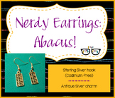 Adorably Nerdy Math Abacus Earrings (shipping included)