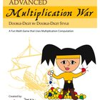Advanced Multiplication War- A Game of Double-Digit by Dou