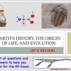 Advanced Placement (AP) Biology Review: Evolution, Earth&#039;s