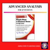 Advanced Sentence Analysis Unit from Simple Steps to Sente