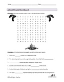 Advent Wreath Word Search Worksheet