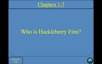 Adventures of Huckleberry Finn by Mark Twain Jeopardy Powe