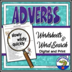 Adverbs Fun Worksheet and Word Search