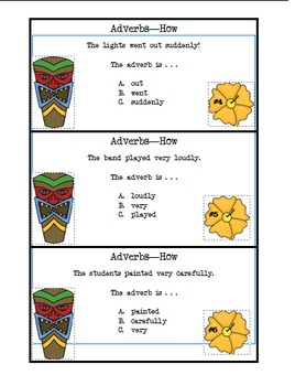 Adverbs - How Task Cards