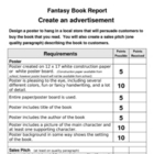 Advertisement with Sales Pitch Book Report (Fantasy)