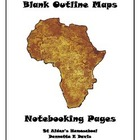 Africa ~ A to Z Countries Blank Outline Maps &amp; Notebooking Pages
