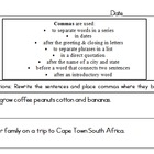 Africa Facts & Commas Worksheet