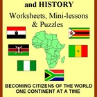 Africa: Geography &amp; History Worksheets and Puzzles