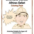 African Safari Junior Coloring Book
