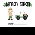 African Safari Learning Log First Grade