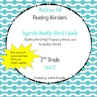 Agenda Labels for Reading Wonders Grade 2 Unit 2