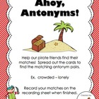 Ahoy, Antonyms!