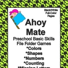 Ahoy Mate Basic Skill File Folder Games