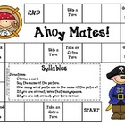 Ahoy Mates Game--Syllables