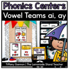 Ai and Ay Word Work Activities