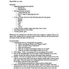Air and Wind Lesson Plan and Recording Sheet