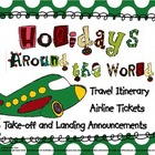 Airline Ticket, Itinerary, and Flight Instructions for Hol