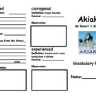 Akiak Vocabulary Fold-able