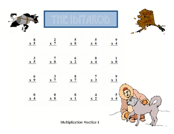 Alaskan Iditarod Basic Math Fact Practice With Keys