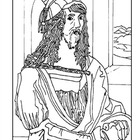 Albrecht Durer. Self-Portrait.  Coloring page and lesson p