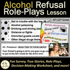 Alcohol Refusal Skills Health Lesson: PwrPt, Role-plays, W