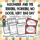 Alexander and the Terrible... Very Bad Day Vocabulary Powerpoint