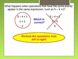 Alg 1.3 Order of Operations