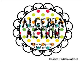 Algebra Action Folder Game {balancing equations & solving for x}
