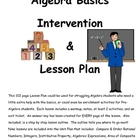 Algebra Basics Intervention/Unit Plan/Lesson Guide Middle School