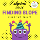 Algebra Finding Slope Given Two Points Maze
