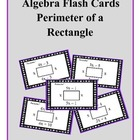 Algebra: Flash Cards - Perimeter of a Rectangle (with Comb