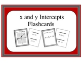 Algebra: Flashcards - Finding the x and y Intercepts from