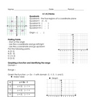 Algebra Graphing; Linear Equations & Functions