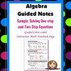 (Sample) Algebra Guided Interactive Math Notebook Page: So