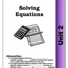 Algebra Guided Presentation Notes: Unit 2 - Solving Equati
