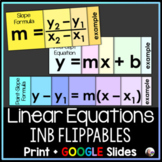 Interactive Notebook Foldables: Linear Equations (slope, y