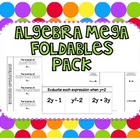 Algebra Mega Foldables Pack {Common Core Aligned}