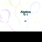 Algebra Questions