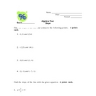 Algebra Slope Test