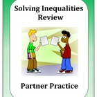 Algebra: Solving Inequalities Partner Review
