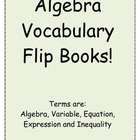 Algebra Vocabulary Foldable