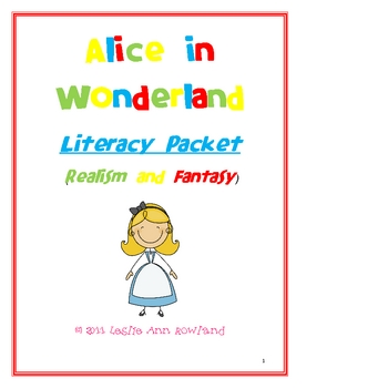 Alice in Wonderland Literacy Packet