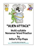 Alien Attack Multi-Syllable Nonsense Word Game
