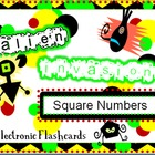 Alien Invasion - Square Numbers Electronic Flashcards