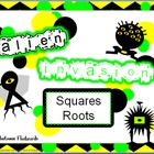 Alien Invasion Square Root Electronic Flashcards