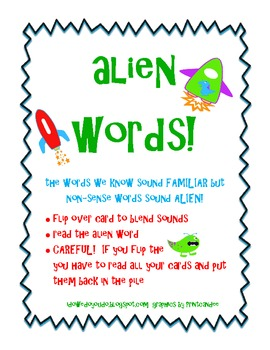 Alien Words - Blending Sounds