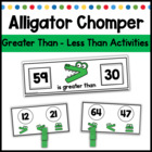 Aligator Chomp: Greater Than-Less Then Activities