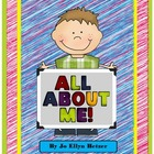 All ABOUT ME! - poster - book - timeline PACK for Back to School