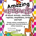 All About Animals (Mammals, Reptiles, Birds, Fish and Amphibians)